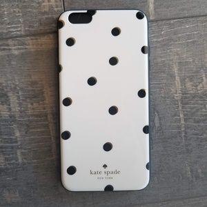 Kate Spade White Black Gold Dot iPhone 6 plus Case